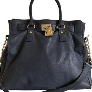 Michael Kors Blue Leather Cross Body Bag